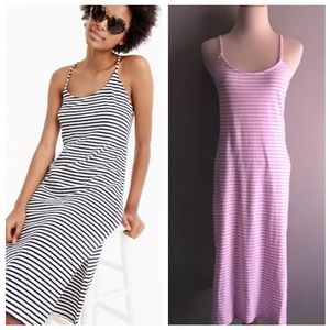 NEW J. Crew Strappy Knit Stripe Midi Dress XXS